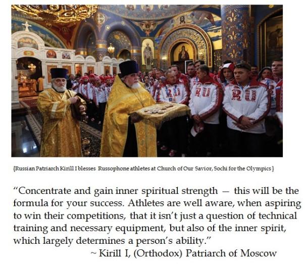 Kirill I Olympic blessing