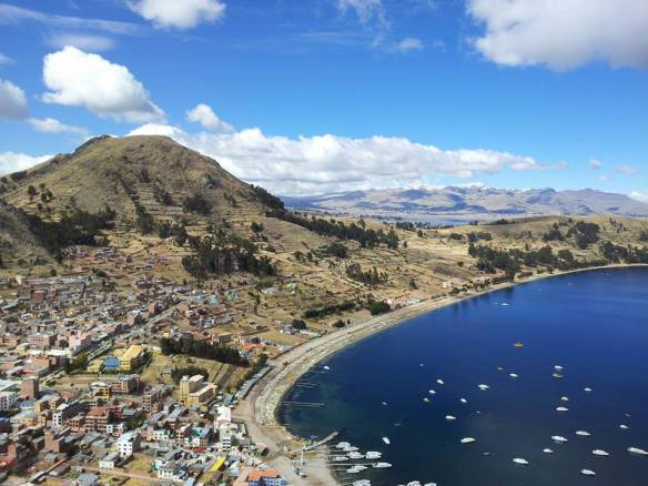 The majestic scenery passing Lake Titicaca.